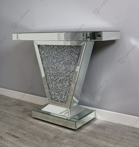 Sparkle Furniture Crushed Diamond Console Table