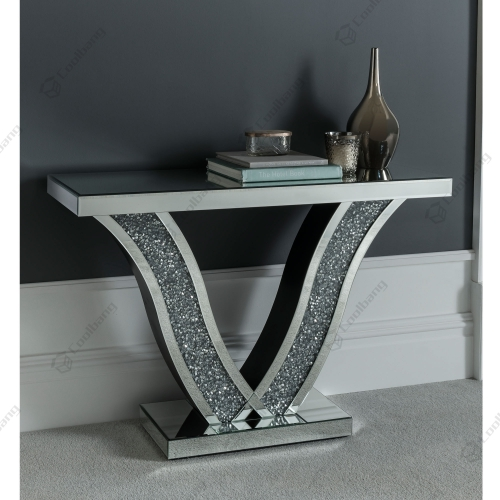 Living Room Crushed Diamond Console Table