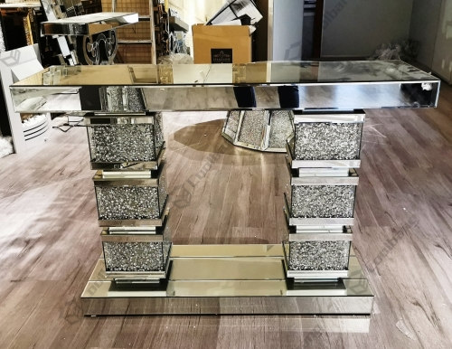 Modern Home Living Room Crushed Diamond Console Table