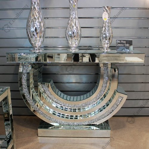 Modern Livng Room Crushed Diamond Console Table