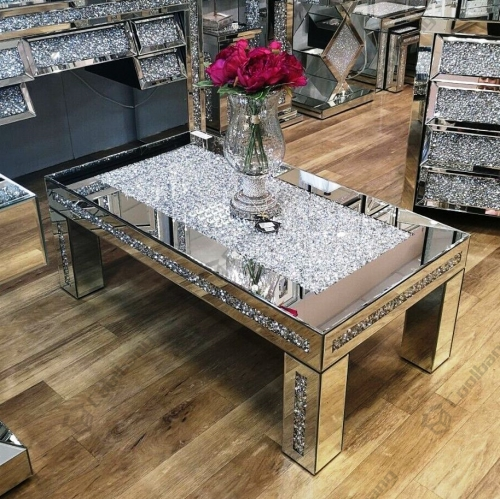 Modern Living Room Furniture Crushed Diamond Coffee Table