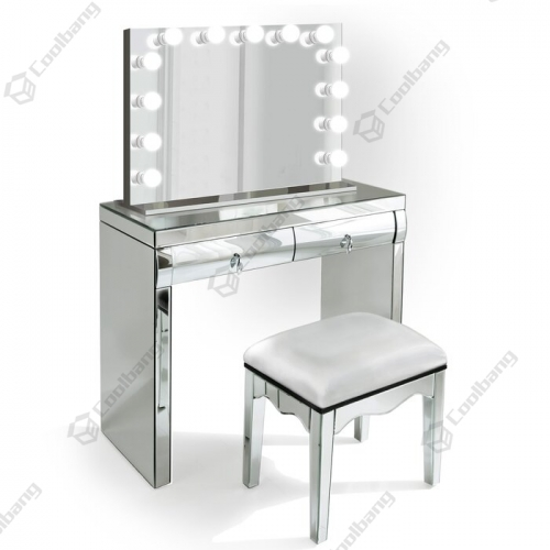 Modern Home Crushed Diamond Vanity Table Hollywood Dressing Table