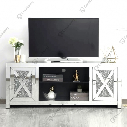 Living Room Crushed Diamond TV Unit Stand Table